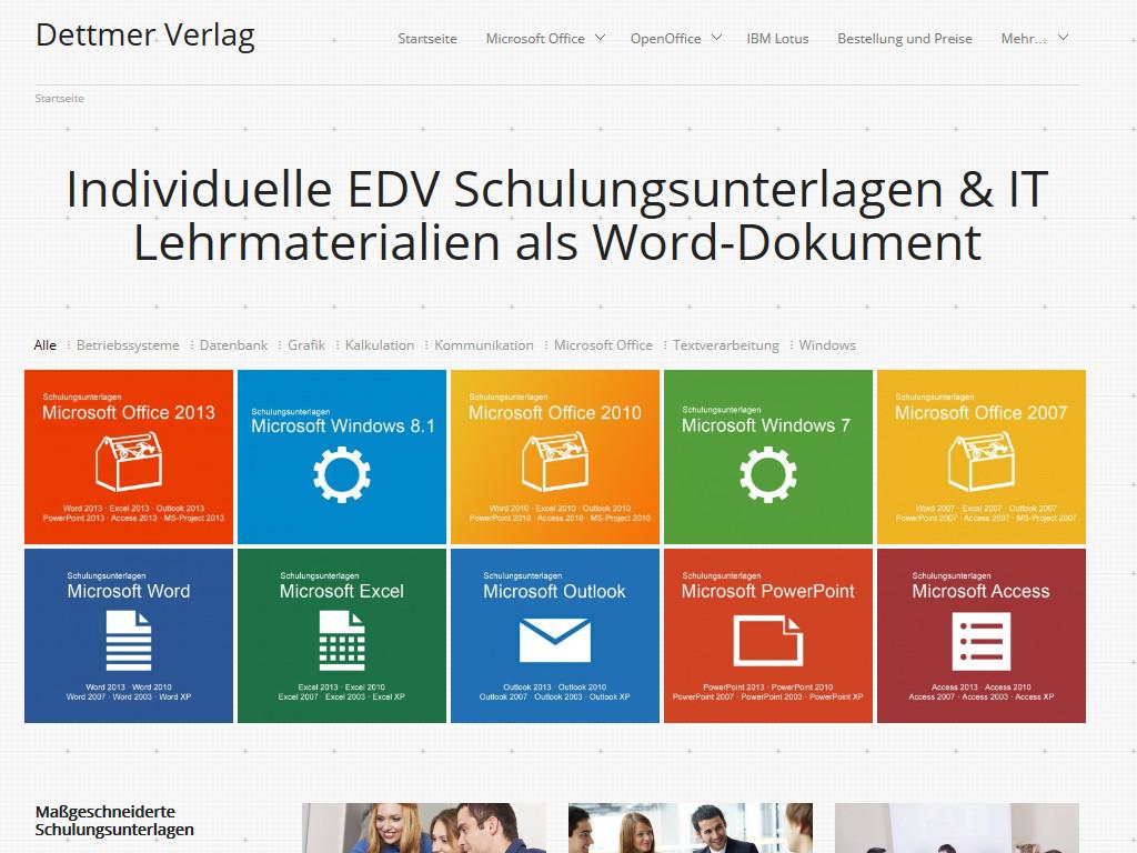 Internettexte für den Dettmer Verlag
