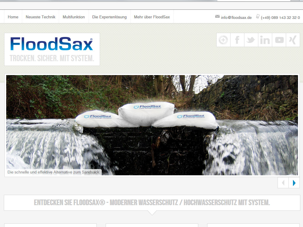 Website Texte für FloodSax