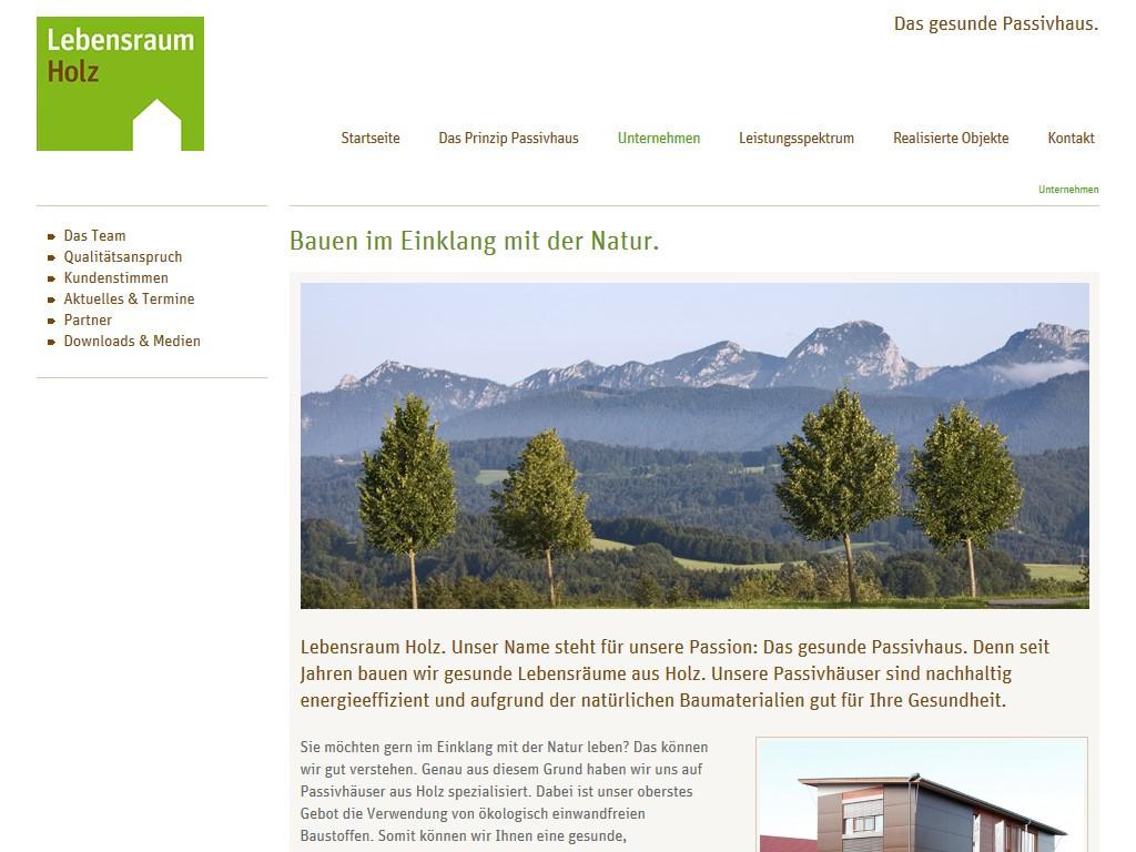 Webtexte fürs Bauunternehmen Lebensraum Holz