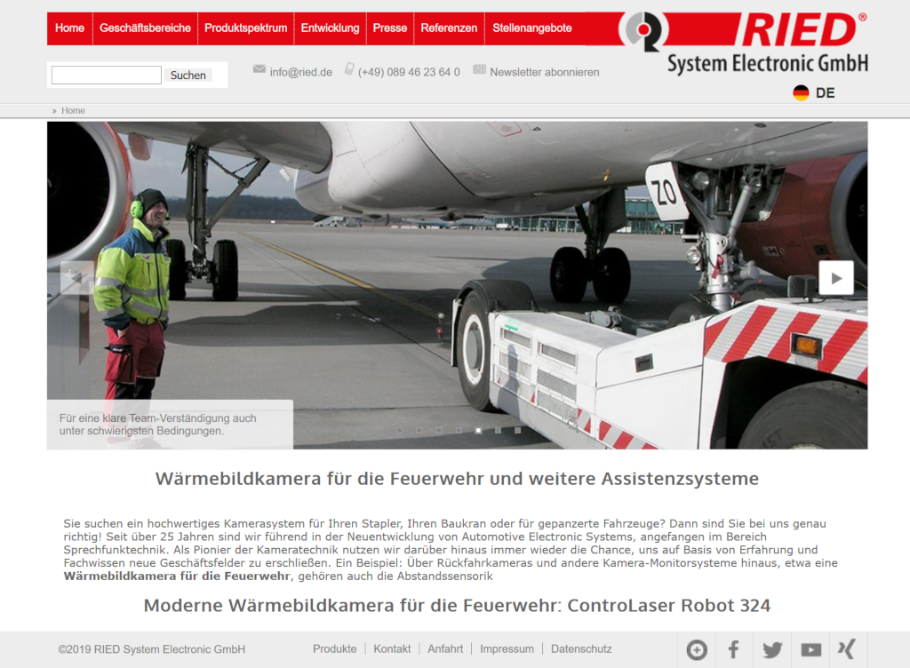 Websitetexte für Ried System Electronic
