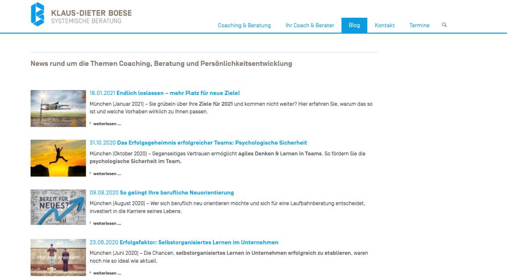 Blog Redaktion Coaching