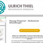 Websitetexte Massagepraxis Wuppertal